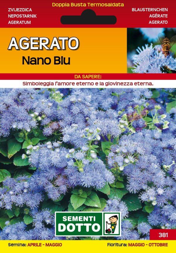 Zvjezdica agerato nano blu cvijeće VIXA
